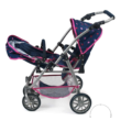 Bayer Design Chic Varion, játék ikerbabakocsi, pink-sötétkék