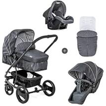 Hauck Pacific 4 Shop N Drive 3 in 1 babakocsi, grey