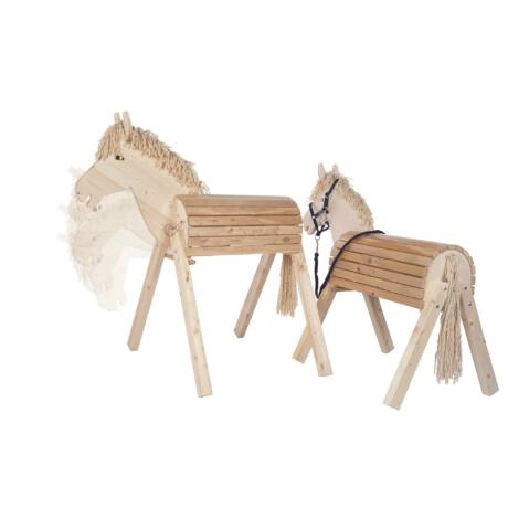 Helga Kreft Tamme nagy méretű kültéri lovagló ló